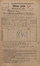 Popis prebivalstva 20. 12. 1921<br />Ljubljana<br />Aleksandrova cesta 7<br />Population census 20 December 1921