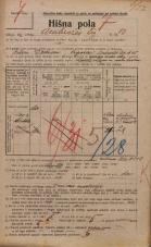 Popis prebivalstva 20. 12. 1921<br />Ljubljana<br />Ambrožev trg 10<br />Population census 20 December 1921
