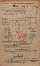 Popis prebivalstva 20. 12. 1921<br />Ljubljana<br />Ambrožev trg 2<br />Population census 20 December 1921
