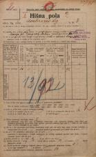 Popis prebivalstva 20. 12. 1921<br />Ljubljana<br />Ambrožev trg 3<br />Population census 20 December 1921