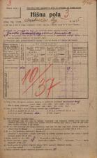 Popis prebivalstva 20. 12. 1921<br />Ljubljana<br />Ambrožev trg 5<br />Population census 20 December 1921