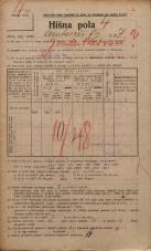 Popis prebivalstva 20. 12. 1921<br />Ljubljana<br />Ambrožev trg 7<br />Population census 20 December 1921