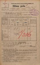 Popis prebivalstva 20. 12. 1921<br />Ljubljana<br />Ambrožev trg 8<br />Population census 20 December 1921