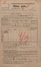Popis prebivalstva 20. 12. 1921<br />Ljubljana<br />Ambrožev trg 9<br />Population census 20 December 1921