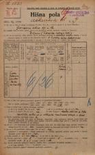 Popis prebivalstva 20. 12. 1921<br />Ljubljana<br />Aškerčeva ulica 9<br />Population census 20 December 1921