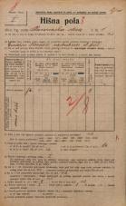 Popis prebivalstva 20. 12. 1921<br />Ljubljana<br />Barvarska steza 5<br />Population census 20 December 1921
