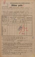 Popis prebivalstva 20. 12. 1921<br />Ljubljana<br />Barvarska steza 6<br />Population census 20 December 1921