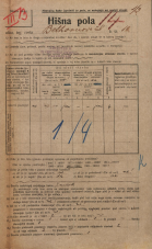 Popis prebivalstva 20. 12. 1921<br />Ljubljana<br />Beethovnova ulica 10<br />Population census 20 December 1921