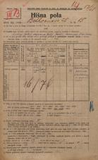 Popis prebivalstva 20. 12. 1921<br />Ljubljana<br />Beethovnova ulica 15<br />Population census 20 December 1921