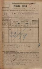 Popis prebivalstva 20. 12. 1921<br />Ljubljana<br />Beethovnova ulica 16<br />Population census 20 December 1921