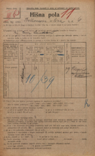 Popis prebivalstva 20. 12. 1921<br />Ljubljana<br />Beethovnova ulica 6<br />Population census 20 December 1921