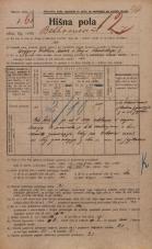 Popis prebivalstva 20. 12. 1921<br />Ljubljana<br />Beethovnova ulica 7<br />Population census 20 December 1921