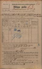 Popis prebivalstva 20. 12. 1921<br />Ljubljana<br />Beethovnova ulica 9<br />Population census 20 December 1921