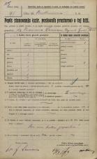 Popis prebivalstva 20. 12. 1921<br />Ljubljana<br />Beethovnova ulica NN1<br />Population census 20 December 1921