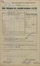 Popis prebivalstva 20. 12. 1921<br />Ljubljana<br />Beethovnova ulica NN2<br />Population census 20 December 1921