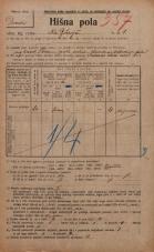 Popis prebivalstva 20. 12. 1921<br />Ljubljana<br />Na Bičevju 1<br />Population census 20 December 1921