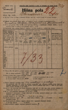 Popis prebivalstva 20. 12. 1921<br />Ljubljana<br />Bleiweisova cesta 11<br />Population census 20 December 1921