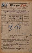 Popis prebivalstva 20. 12. 1921<br />Ljubljana<br />Bleiweisova cesta 15<br />Population census 20 December 1921