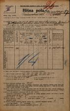 Popis prebivalstva 20. 12. 1921<br />Ljubljana<br />Bleiweisova cesta 17<br />Population census 20 December 1921