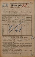 Popis prebivalstva 20. 12. 1921<br />Ljubljana<br />Bleiweisova cesta 20<br />Population census 20 December 1921