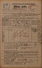 Popis prebivalstva 20. 12. 1921<br />Ljubljana<br />Bleiweisova cesta 5<br />Population census 20 December 1921