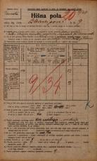 Popis prebivalstva 20. 12. 1921<br />Ljubljana<br />Bleiweisova cesta 9<br />Population census 20 December 1921