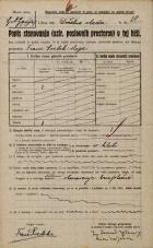 Popis prebivalstva 20. 12. 1921<br />Ljubljana<br />Bleiweisova cesta - Deželna vlada 10<br />Population census 20 December 1921