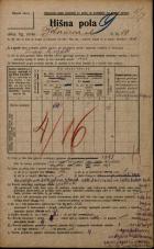 Popis prebivalstva 20. 12. 1921<br />Ljubljana<br />Bohoričeva ulica 10<br />Population census 20 December 1921