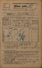 Popis prebivalstva 20. 12. 1921<br />Ljubljana<br />Bohoričeva ulica 11<br />Population census 20 December 1921