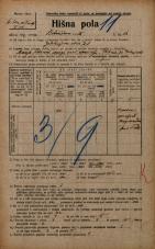 Popis prebivalstva 20. 12. 1921<br />Ljubljana<br />Bohoričeva ulica 12<br />Population census 20 December 1921