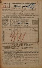 Popis prebivalstva 20. 12. 1921<br />Ljubljana<br />Bohoričeva ulica 13<br />Population census 20 December 1921