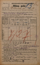 Popis prebivalstva 20. 12. 1921<br />Ljubljana<br />Bohoričeva ulica 14<br />Population census 20 December 1921