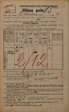 Popis prebivalstva 20. 12. 1921<br />Ljubljana<br />Bohoričeva ulica 26<br />Population census 20 December 1921