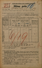 Popis prebivalstva 20. 12. 1921<br />Ljubljana<br />Bohoričeva ulica 27<br />Population census 20 December 1921