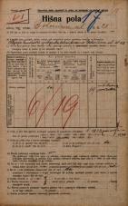 Popis prebivalstva 20. 12. 1921<br />Ljubljana<br />Bohoričeva ulica 28<br />Population census 20 December 1921