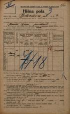 Popis prebivalstva 20. 12. 1921<br />Ljubljana<br />Bohoričeva ulica 4<br />Population census 20 December 1921
