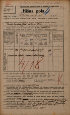 Popis prebivalstva 20. 12. 1921<br />Ljubljana<br />Bohoričeva ulica 5<br />Population census 20 December 1921