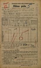 Popis prebivalstva 20. 12. 1921<br />Ljubljana<br />Bohoričeva ulica 6<br />Population census 20 December 1921