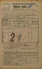 Popis prebivalstva 20. 12. 1921<br />Ljubljana<br />Bohoričeva ulica 7<br />Population census 20 December 1921