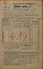 Popis prebivalstva 20. 12. 1921<br />Ljubljana<br />Bohoričeva ulica 8<br />Population census 20 December 1921