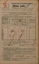 Popis prebivalstva 20. 12. 1921<br />Ljubljana<br />Bohoričeva ulica 9<br />Population census 20 December 1921