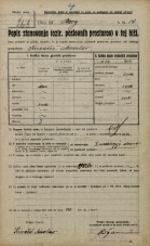 Popis prebivalstva 20. 12. 1921<br />Ljubljana<br />Breg 12<br />Population census 20 December 1921