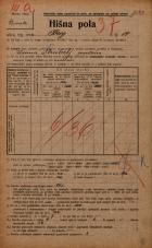 Popis prebivalstva 20. 12. 1921<br />Ljubljana<br />Breg 14<br />Population census 20 December 1921