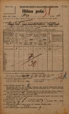 Popis prebivalstva 20. 12. 1921<br />Ljubljana<br />Breg 16<br />Population census 20 December 1921