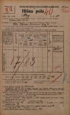 Popis prebivalstva 20. 12. 1921<br />Ljubljana<br />Breg 20<br />Population census 20 December 1921