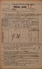 Popis prebivalstva 20. 12. 1921<br />Ljubljana<br />Breg 4<br />Population census 20 December 1921