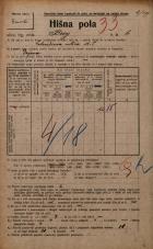Popis prebivalstva 20. 12. 1921<br />Ljubljana<br />Breg 6<br />Population census 20 December 1921