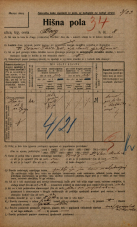 Popis prebivalstva 20. 12. 1921<br />Ljubljana<br />Breg 8<br />Population census 20 December 1921