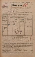Popis prebivalstva 20. 12. 1921<br />Ljubljana<br />Cankarjeva ulica 12<br />Population census 20 December 1921