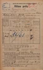 Popis prebivalstva 20. 12. 1921<br />Ljubljana<br />Cankarjeva ulica 4<br />Population census 20 December 1921